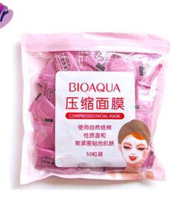 قرص ماسک صورت ورقه ای فشرده یکبار مصرف بیوآکوا - Bioaqua
