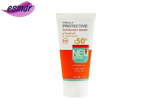 کرم ضد آفتاب نئودرم رنگی مناسب پوست نرمال تا خشک بژ روشن SPF50