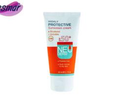 کرم ضد آفتاب نئودرم فاقد رنگ مناسب پوست نرمال تا خشک SPF50