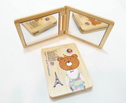 آینه جیبی چوبی