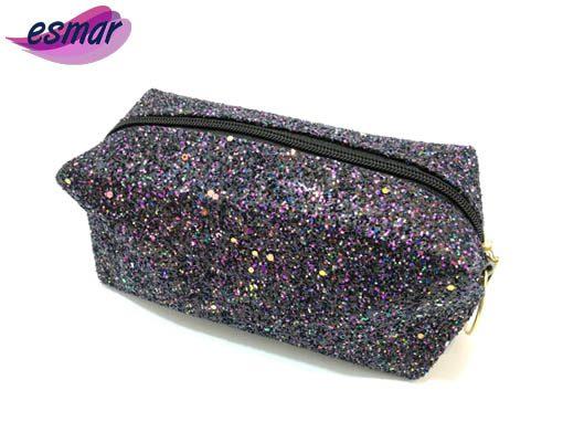 کیف لوازم آرایشی شنی مدل گلیتری M10